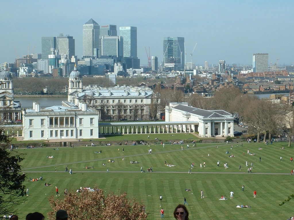 View of Canary Wharf from Greenwich