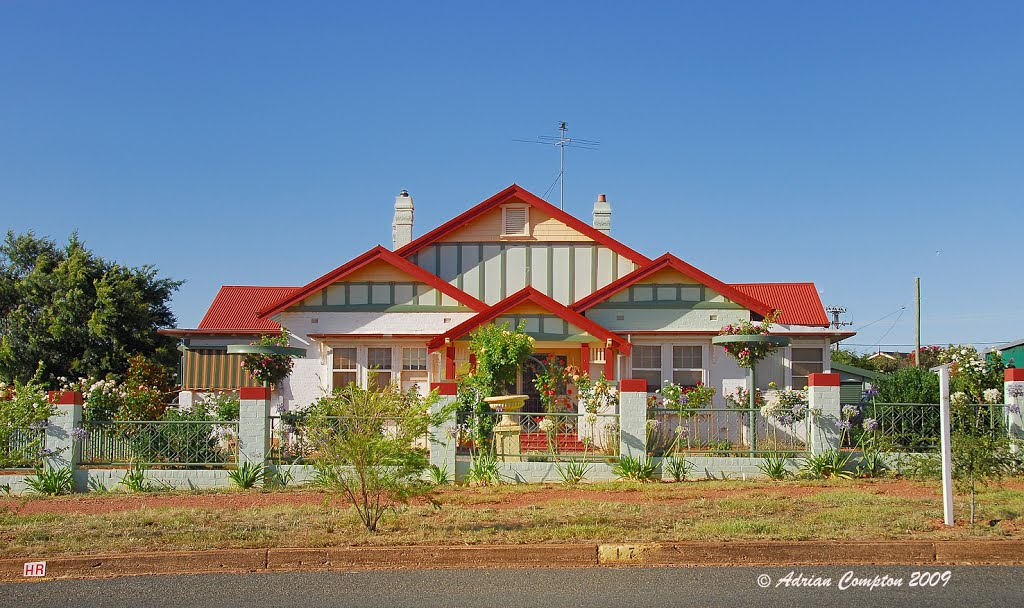 a colourful home in Temora, NSW. Jan 2009.
