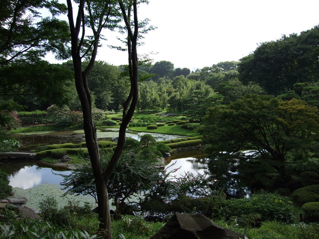 View over the imperial garden