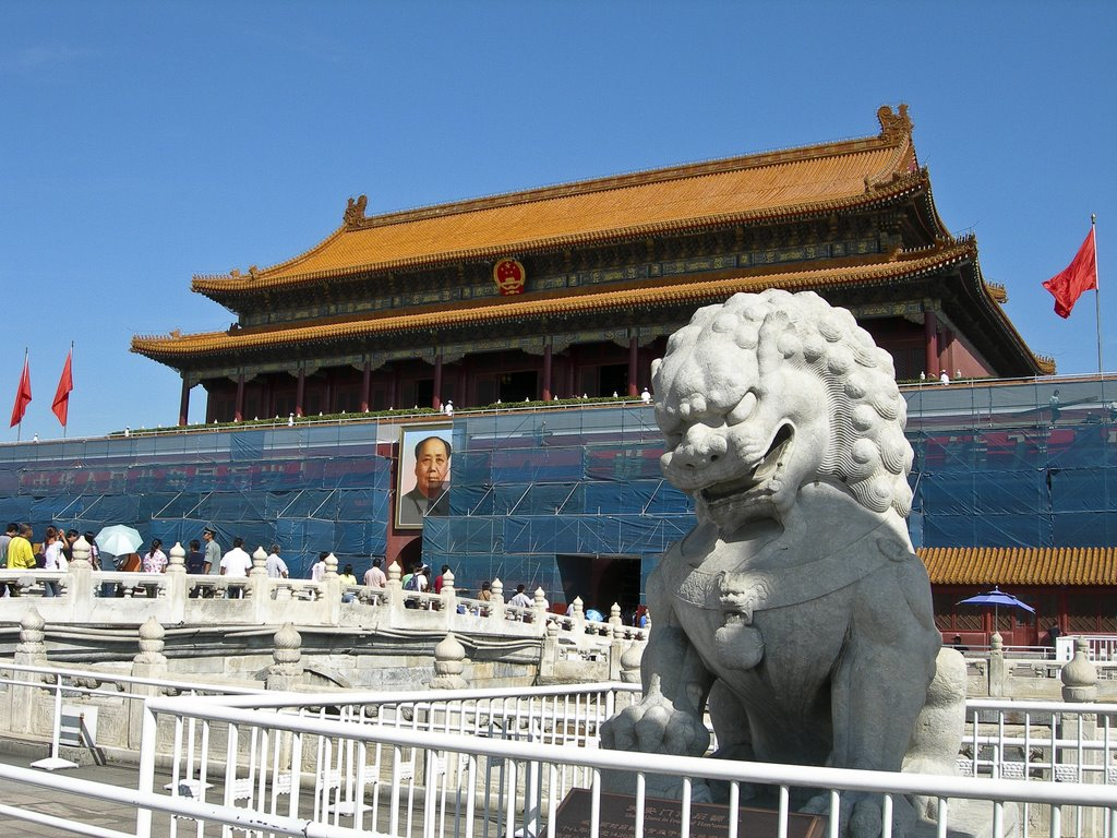 Lion in front of The Forbidden City