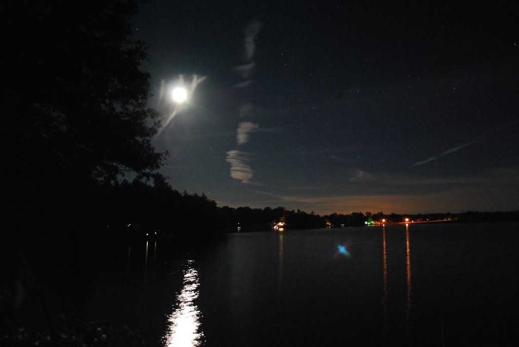 Pleasant Moonlit Night Beaver Lake Tamworth Ontario View From Home Remodeling Inspirations Basidirectenergyitoicom