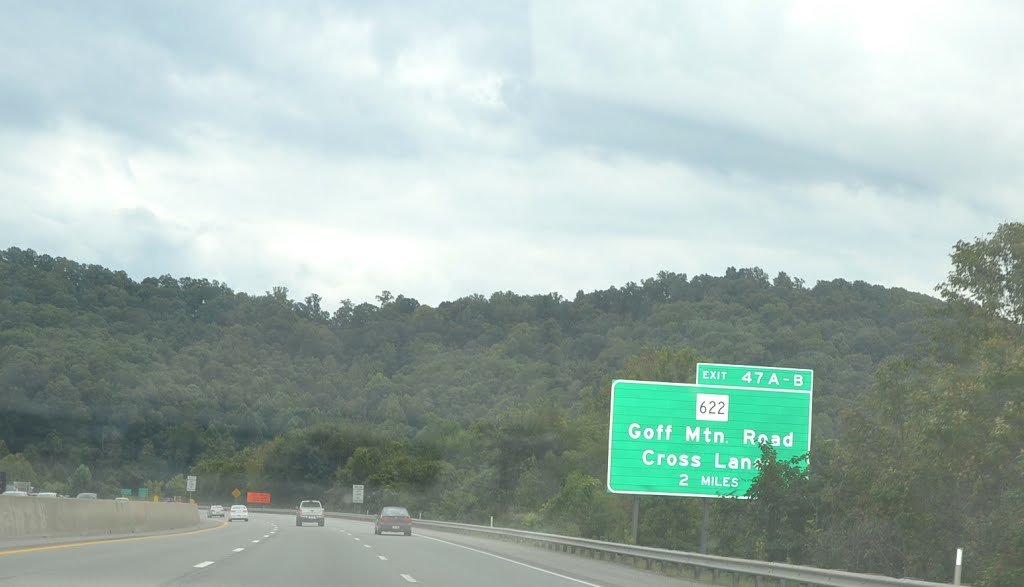 Goff Mountain Road Exit 2 Miles Ahead, Interstate 64 Eastbound