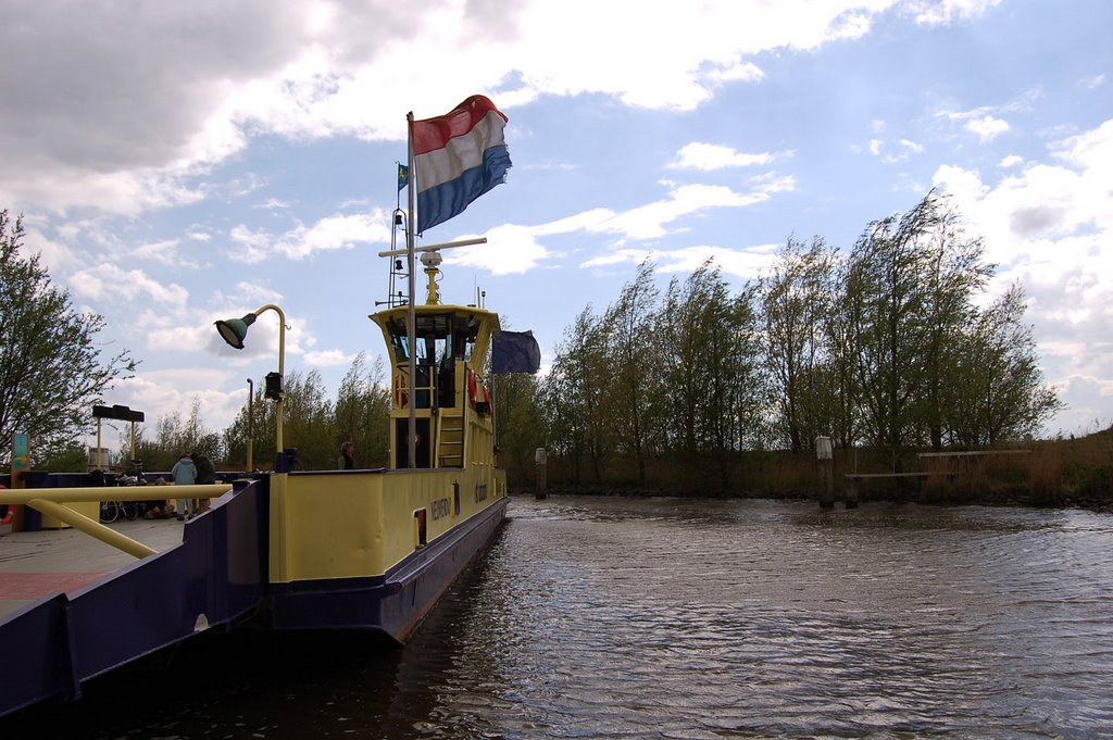 A ferry, waiting to depart near Nieuwendijk, Netherlands