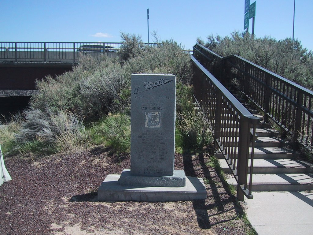 World Famous Evel Knievel Monument for The 1974 Attempt to Jump The Snake River Twin Falls Idaho