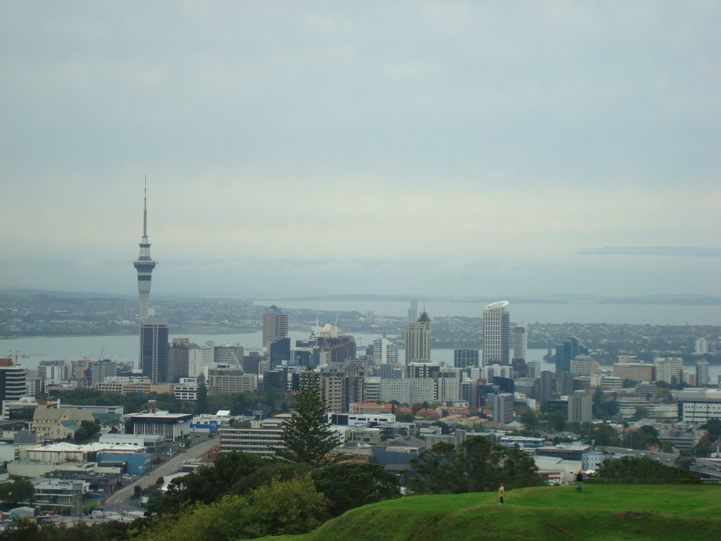 View of Auckland from Mt Eden Hill