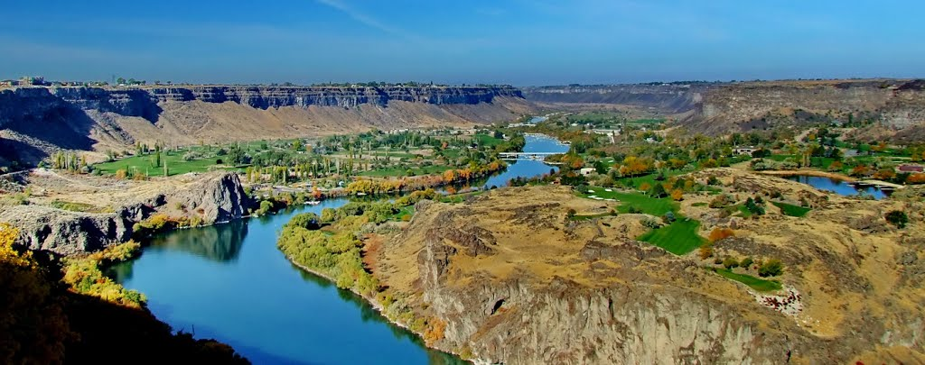 Snake river canyon panorama